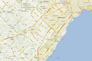 Mississauga Oakville map