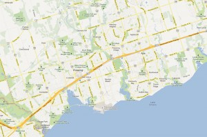 Pickering and Ajax Map
