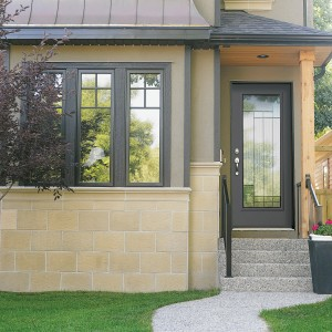 Entry Door System with Cosmopolitain Glass Design