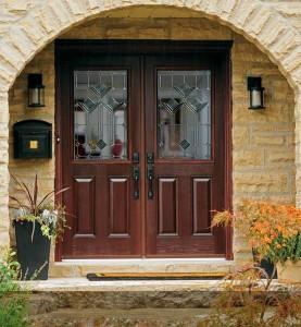 Fiberglass double doors